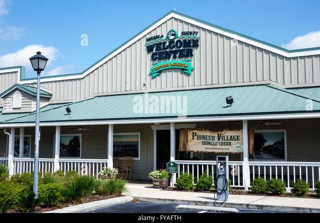Kissimmee Orlando Florida Orlando Osceola County Welcome Center centre History Museum front entrance - Stock Image