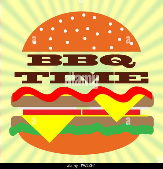 BBQ time. - Stock Image