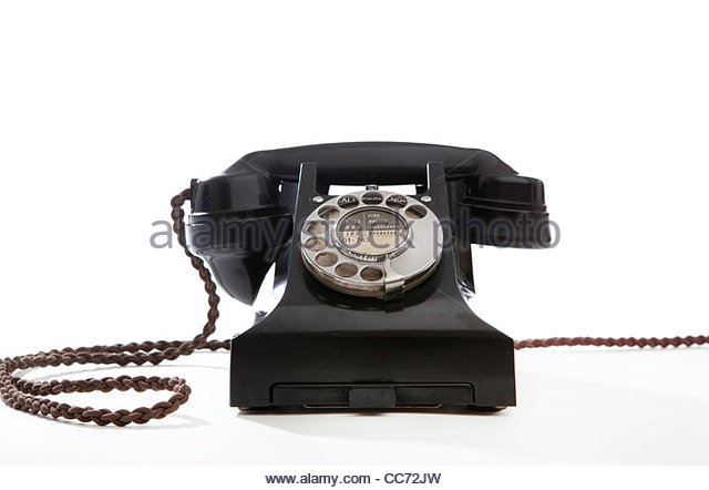 An Old fashioned telephone - Stock Image