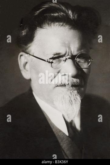 MIKHAIL KALININ   Soviet politician 1875-1946 - Stock Image