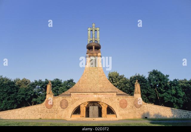 Czech Republic, Slavkov U Brna (Austerlitz). Mohyla Miru (Mound Of Peace) - Stock Image