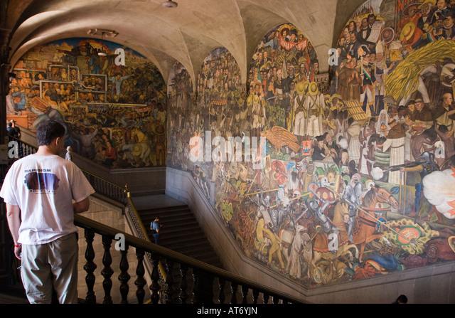 Diego rivera murals mexico city stock photos diego for Diego rivera mural palacio nacional