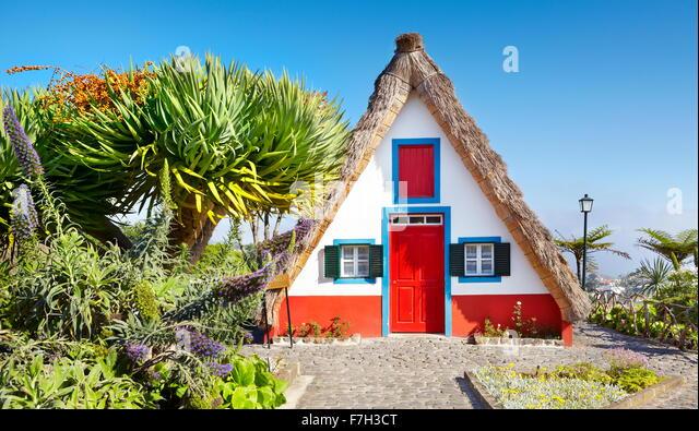 Santana Traditional home palheiros - Santana, Madeira, Portugal - Stock Image