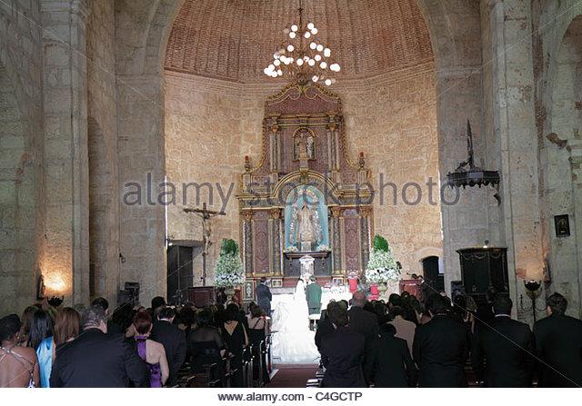 Santo Domingo Dominican Republic Ciudad Colonia Calle Las Mercedes Iglesia de Nuestra Senora de Las Mercedes Our - Stock Image