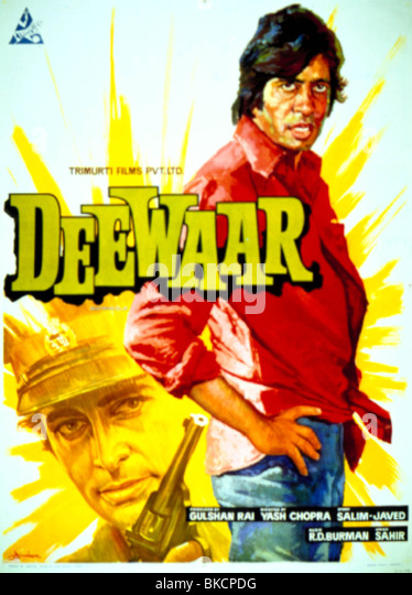 DEEWAAR (1975) THE WALL (ALT) POSTER BOLLYWOOD DEWR 001OS - Stock-Bilder