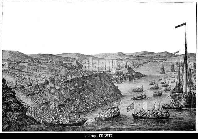 British Capture of Quebec, 1759. Result of  Battle of the Plains of Abraham against the French army -began 13 September, - Stock Image