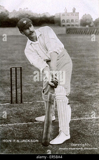 Cricketer The Honourable Frank Stanley Jackson, *, . Born 1870 - Allerton Hall, Chapel Allerton, Leeds, Yorkshire - Stock Image