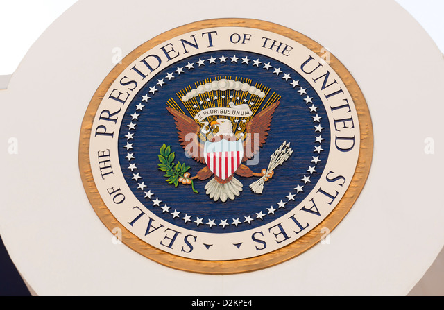 US Presidential Seal - Stock Image