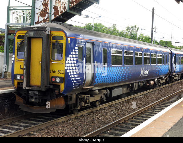 Scotrail 156511 Edinburgh to Glasgow train c - Stock Image