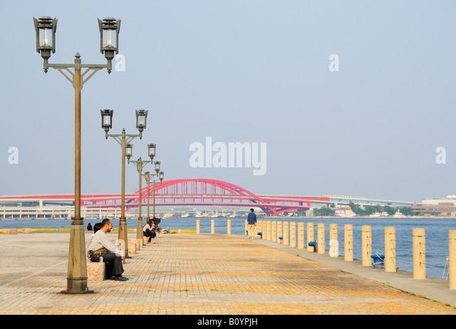 Kobe Port Promenade - Stock Image