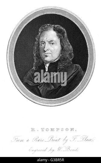 RICHARD TOMPSON print seller          Date: ? - 1693 - Stock Image