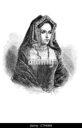 Catherine of Katherine Katharine Queen England first wife King Henry VIII  Ambassador Spanish Court regent  Earthly - Stock Image