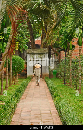 Temple of Literature, Hanoi, Vietnam - Stock Image
