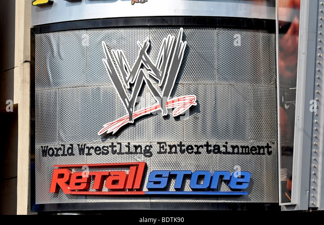 WWE (World Wrestling Entertainement) - Attractions on Clifton Hill, Niagara, Canada - Stock Image