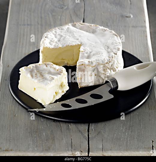 Tunworth soft cheese - Stock Image