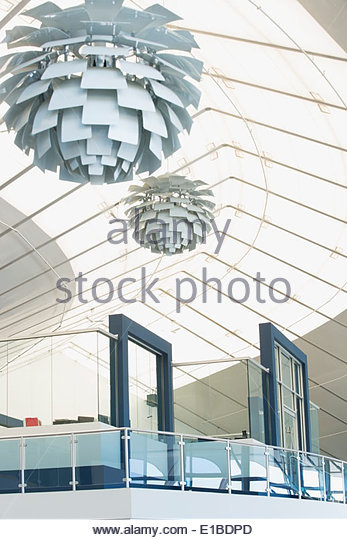 Modern office atrium - Stock Image