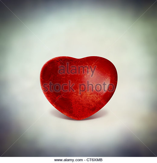 red love heart - Stock Image