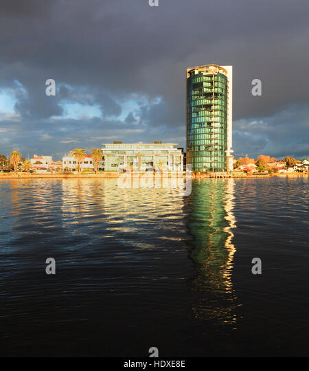 The luxury Raffles Waterfront apartment building in Perth, Western Australia - Stock Image
