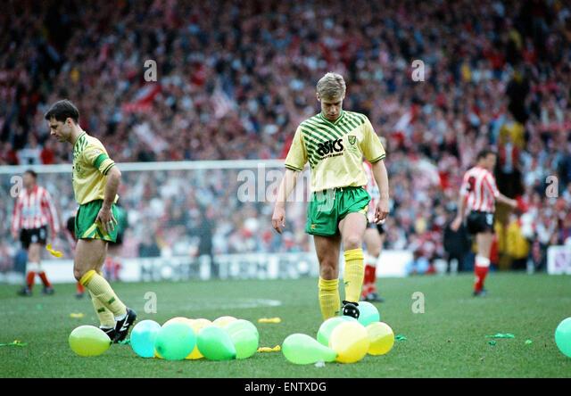 Sunderland 1-0 Norwich 1992 FA Cup semi-final 5/4/1992 - Stock Image