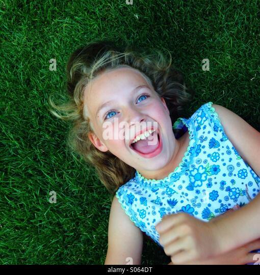 Happy girl - Stock Image