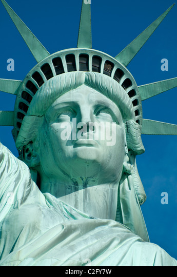 Statue of Liberty Crown on a Blue Sky - Stock-Bilder