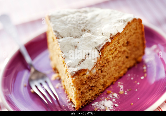 a slice of  cake - Stock Image