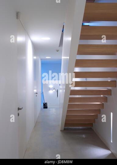 Staircase in basement. Notting Hill House, London, United Kingdom. Architect: Michaelis Boyd Associates Ltd, 2017. - Stock-Bilder