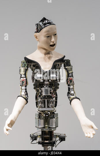 Tokyo, Tokyo, Japan. 22nd June, 2017. A humanoid robot called Alter, designed by scientists in Japan is exhibited - Stock-Bilder