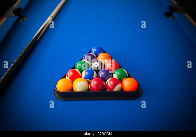 how to set up red yellow pool balls