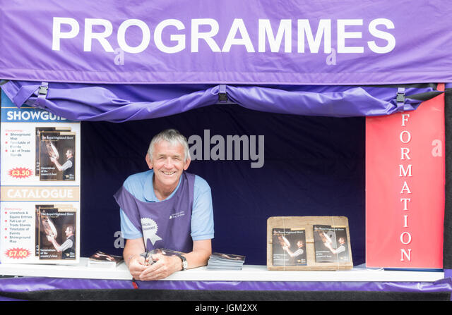 Programme seller at the Royal Highland Show 2017, Ingliston, Edinburgh, Scotland, UK - Stock Image