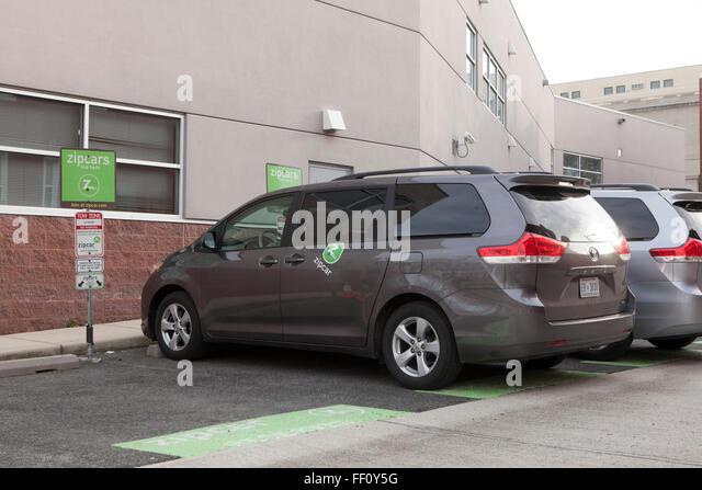 Zip car minivan - Washington, DC USA - Stock Image