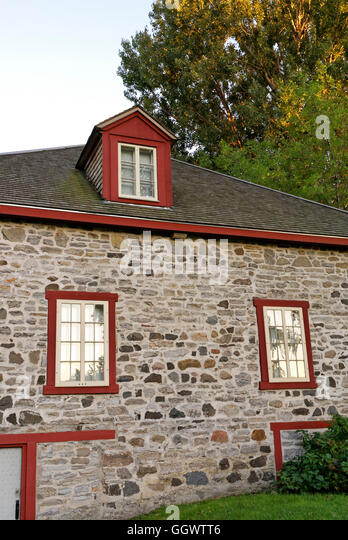 The Fur Trade Museum at Lachine National Historic Site in Lachine, Montreal, Quebec, Canada - Stock-Bilder