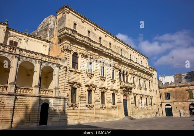 Piazza del Duomo (Cathedral square). Lecce, Apulia, Italy - Stock Image