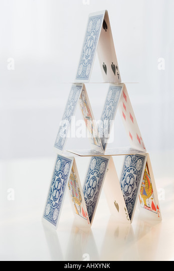 Close up of house of cards - Stock Image