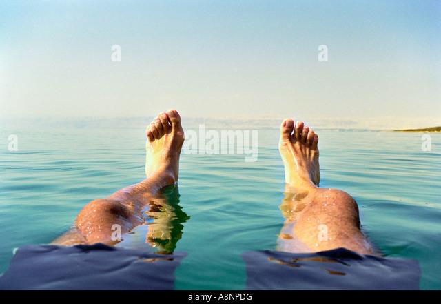 Floating - Dead Sea, JORDAN - Stock Image