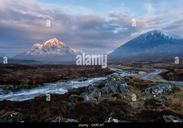 On Rannoch Moor looking West towards the entrance to Glen Coe - Stock-Bilder