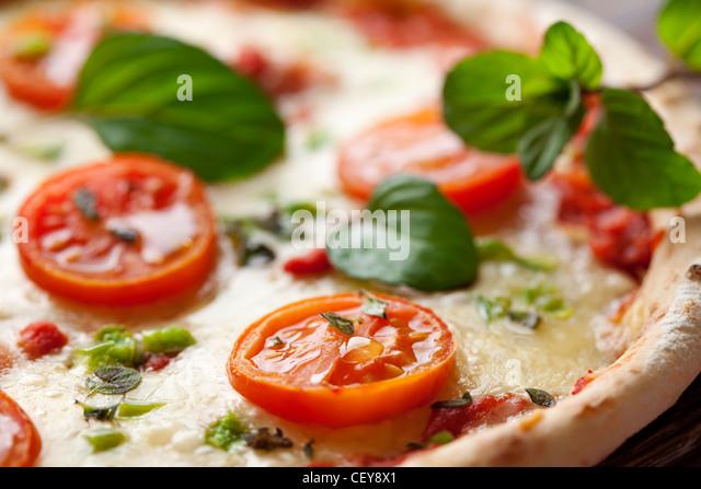 italian style vegetarian pizza - Stock Image