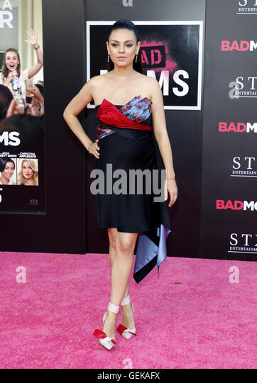Los Angeles, California, USA. 26th July, 2016. Mila Kunis at the Los Angeles premiere of 'Bad Moms' held - Stock-Bilder