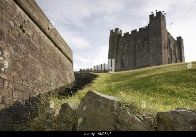 UK, England, Bamburgh, Bamburgh Castle, - Stock Image