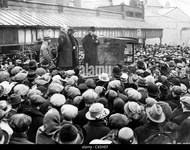 David Lloyd George, 1924 - Stock Image