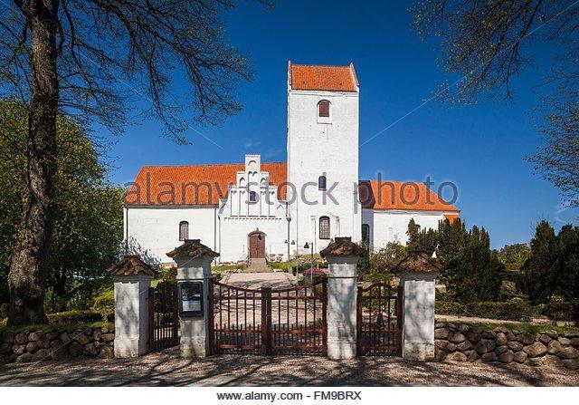 Denmark, Langeland, Humble, Humble Village church - Stock Image