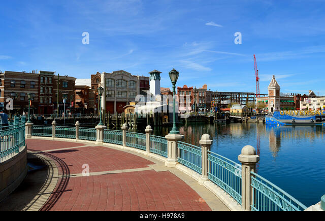 The Universal Orlando Resort adventure theme park in Orlando - Stock Image