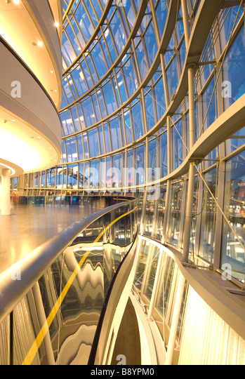 Inside The Sage Gateshead, Norman Foster's stunning music centre on the banks of the River Tyne. - Stock Image