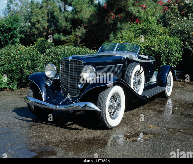1930s Auburn Speedster Vintage Car Stock Photos & 1930s