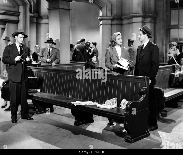 NINA FOCH & GLENN FORD THE UNDERCOVER MAN (1949) - Stock Image