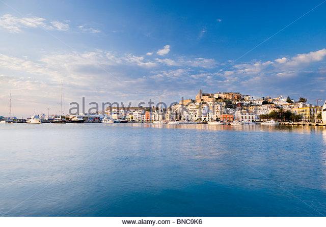 Dalt Vila (Ibiza Old town), Ibiza, Balearic Islands, Spain. - Stock-Bilder