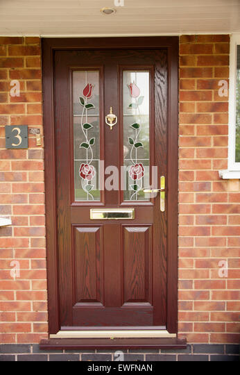 Composite door stock photos composite door stock images for Brown upvc door