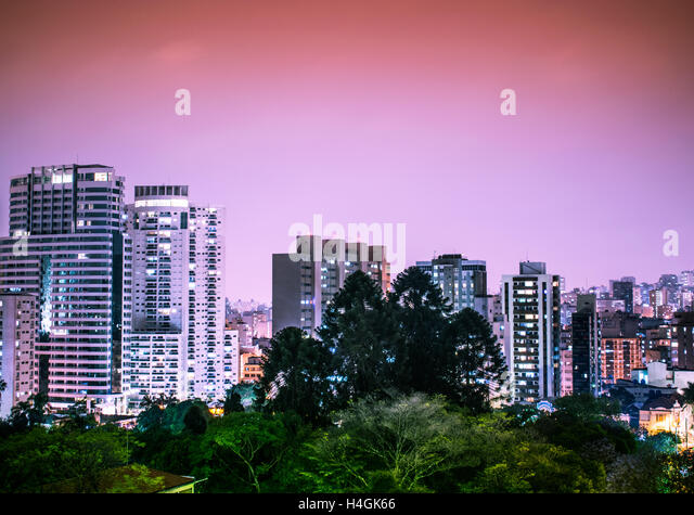 A landscape view of buildings at São Paulo, Brazil - Stock Image