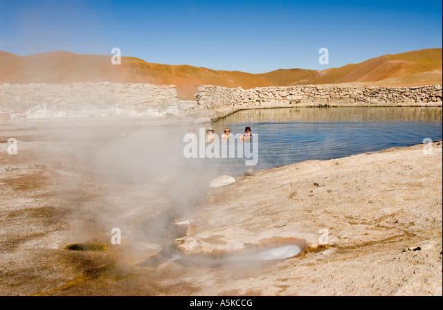 Chile El Tatio Geysers Atacama desert - Stock Image