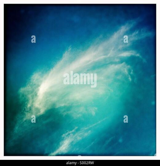 Swirling cloud formation - Stock Image